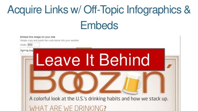 Acquire Links w/ Off-Topic Infographics &  Embeds  Leave It Behind