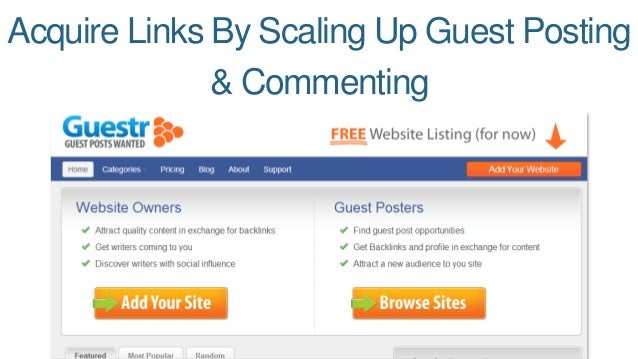 Acquire Links By Scaling Up Guest Posting  & Commenting