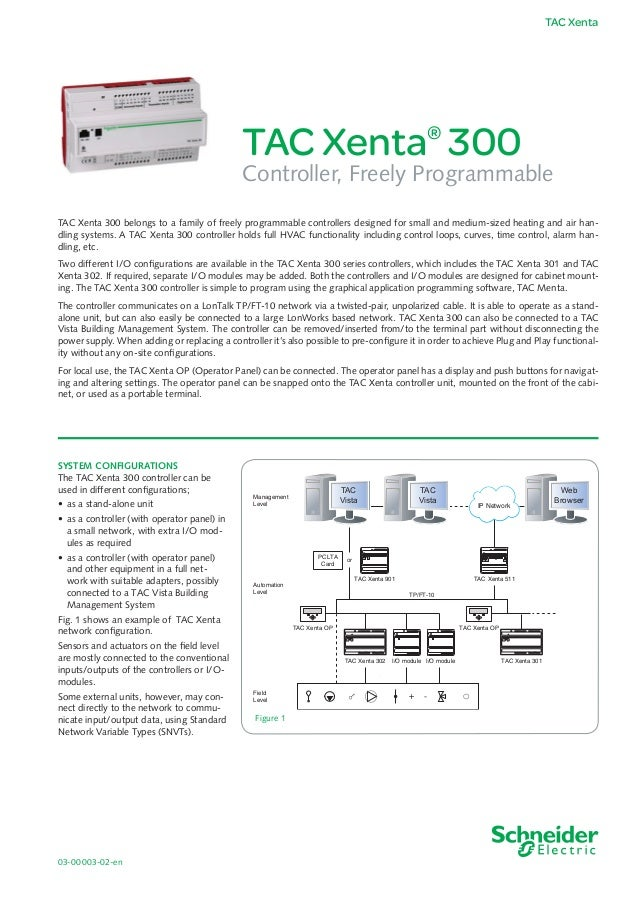 Tac Xenta 300 Specification Sheet
