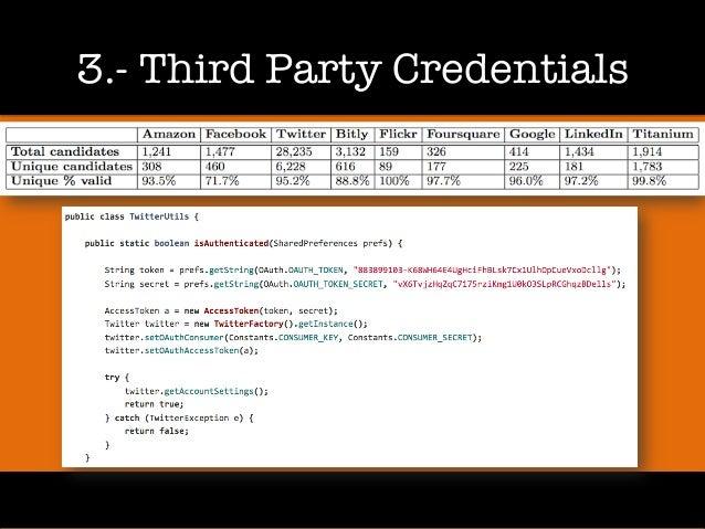 3.- Third Party Credentials
