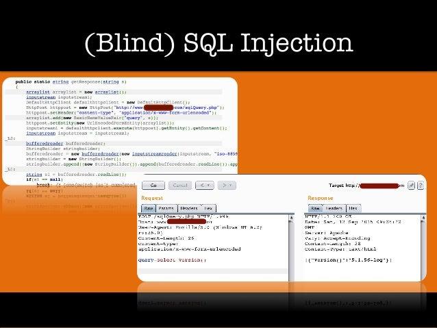 (Blind) SQL Injection