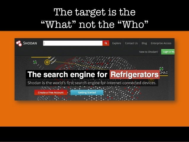 """The target is the! """"What"""" not the """"Who"""""""