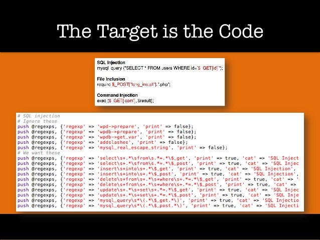 The Target is the Code