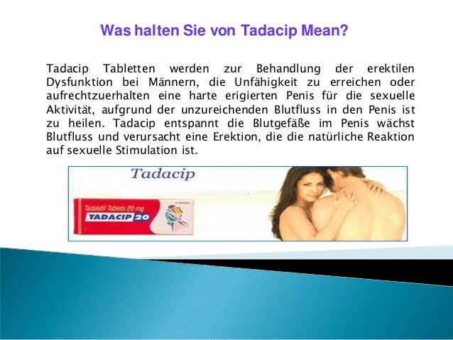 Tadacip kaufen, um Ihr Problem zu behandeln erektile Dysfunktio Slide 2