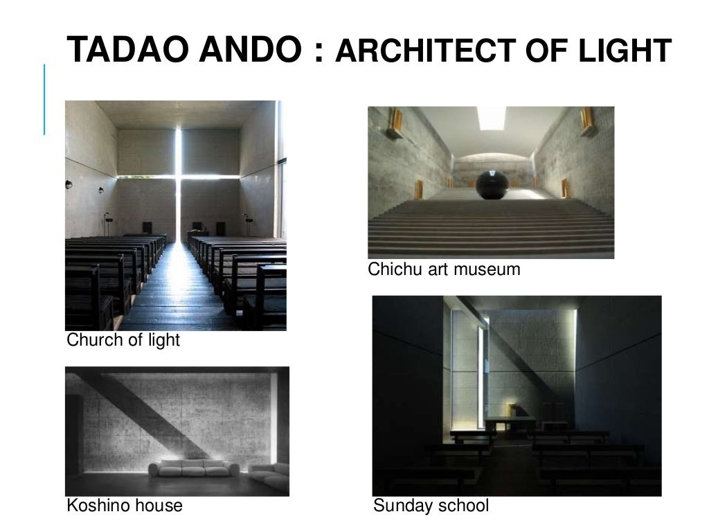 tadao ando essay Ga recent projects: tadao ando 2 various in his opening essay, ando discusses the changes that recent developments in computer technology have brought to his.
