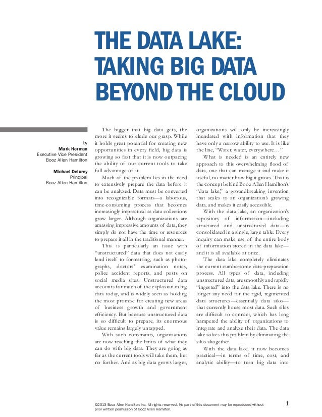 1 The bigger that big data gets, the more it seems to elude our grasp. While it holds great potential for creating new opp...