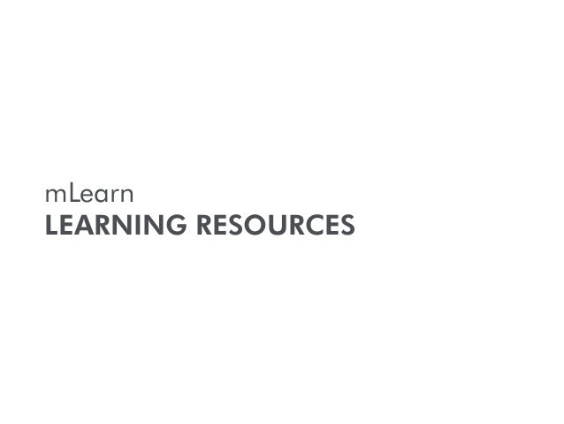 mLearn LEARNING RESOURCES