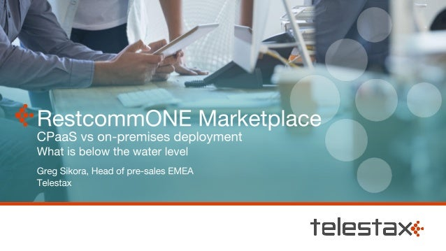 5 Telestax - The RestcommONE Company RestcommONE is the Leading Open Source Real-Time Communications (RTC) Platform Voice,...
