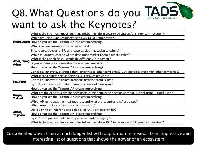 tadsummit 2014 pre conference survey results interim drop