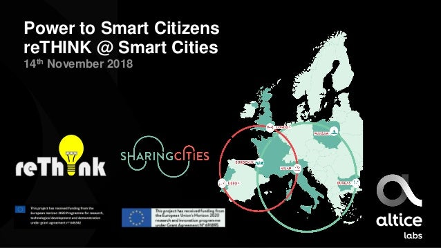 Power to Smart Citizens reTHINK @ Smart Cities 14th November 2018