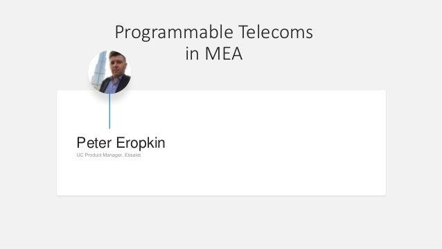 Peter Eropkin Programmable Telecoms in MEA