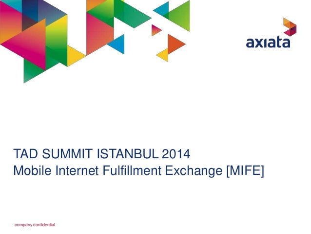 TAD SUMMIT ISTANBUL 2014  Mobile Internet Fulfillment Exchange [MIFE]  company confidential