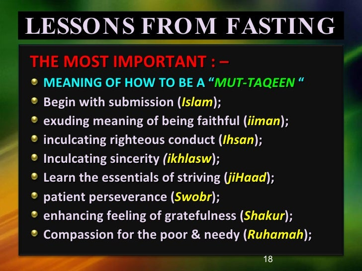 Qur'anic Lessons