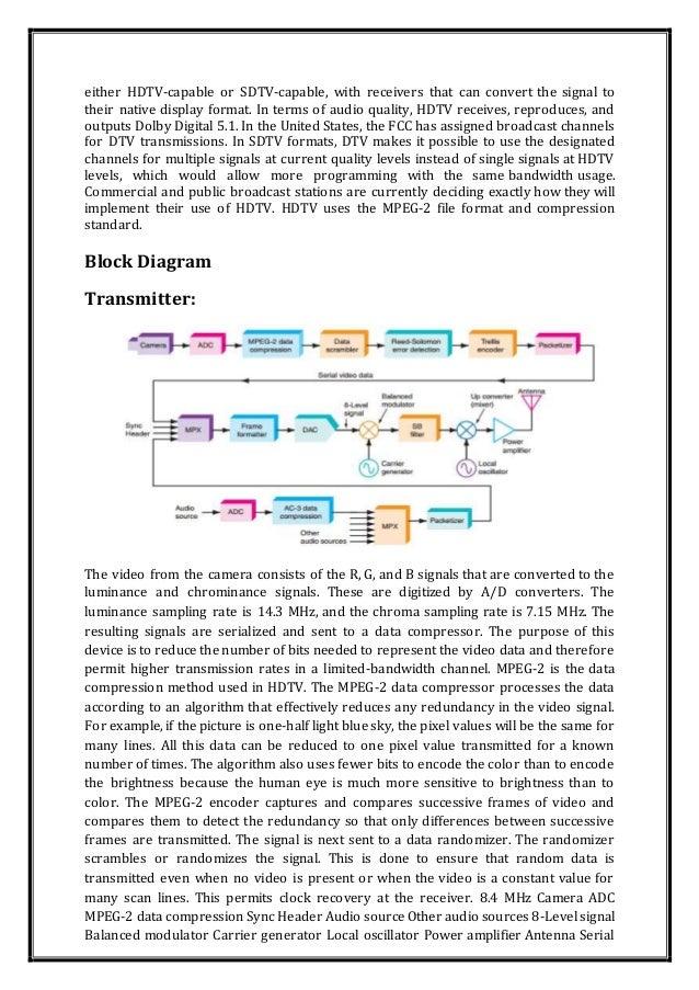 hdtv rh slideshare net  satellite receiver block diagram