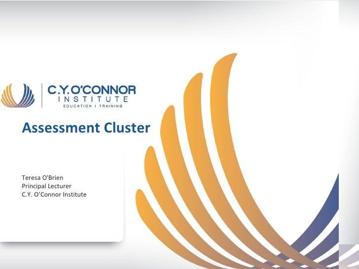 Assessment ClusterTeresa OBrienPrincipal LecturerC.Y. O'Connor Institute