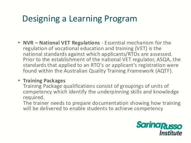 designing a learning programe Software design is the process by which an agent creates a specification of a software artifact, intended to accomplish goals, using a set of primitive components and.
