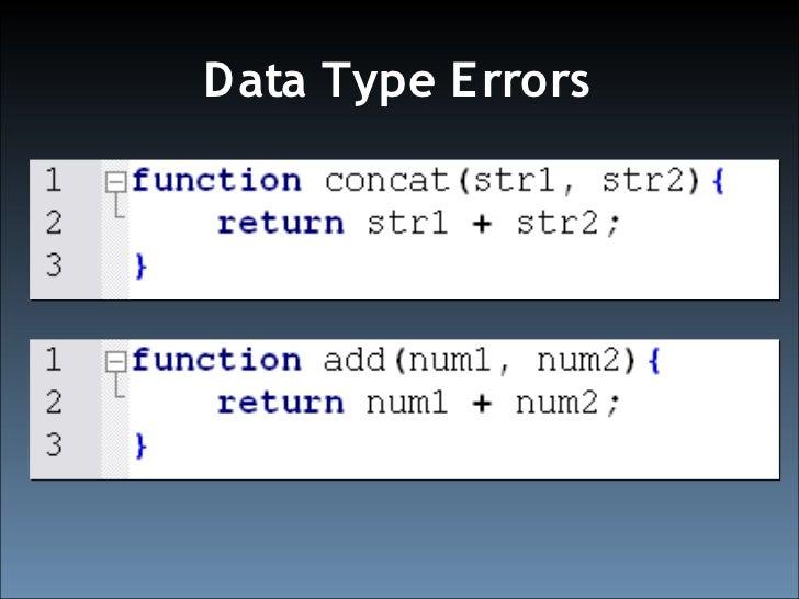 Data Type E rrors