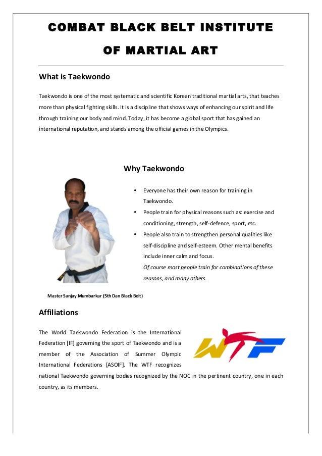 taekwondo class profile rh slideshare net Physical Training Routines Af Physical Training