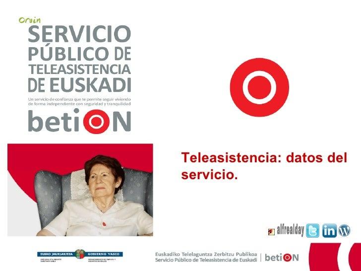 alfrealday Teleasistencia: datos del servicio.