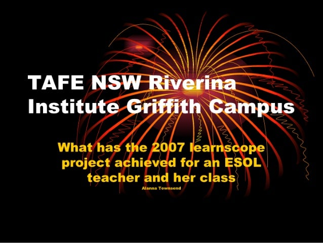 Tafe Nsw Riverina Institute Griffith Campus Power Point For Slide Share