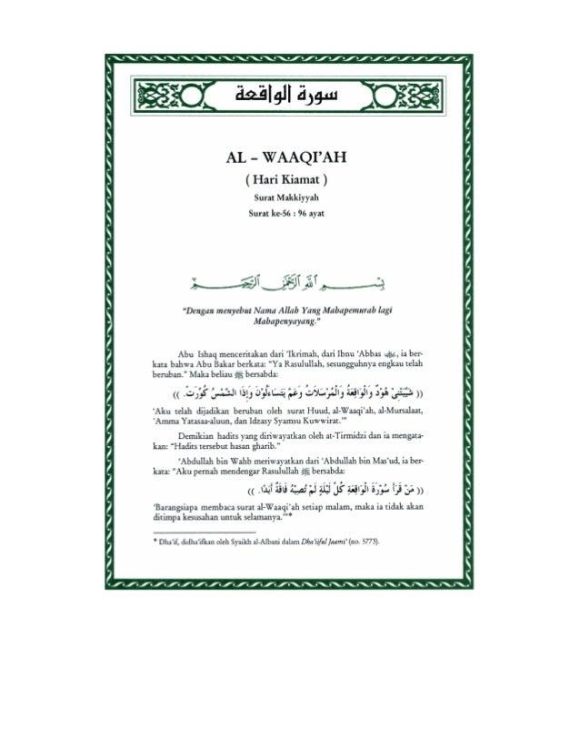 Tafsir Ibnu Katsir Surat Al Waqiah