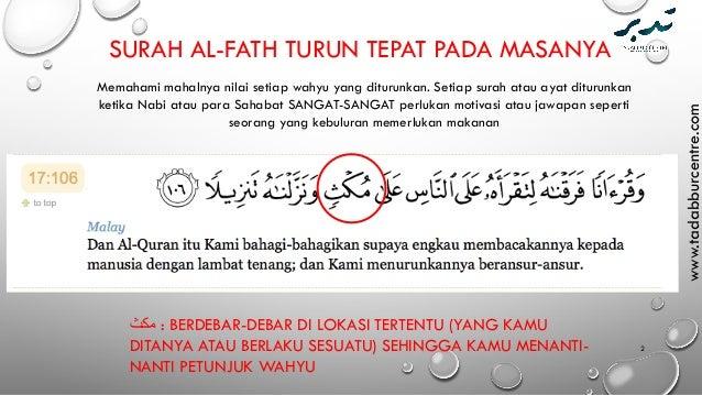 Tafsir Surah Al Fath Mendefinisi Kemenangan Islam