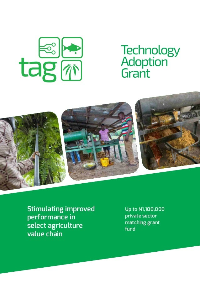 Stimulating improved performance in select agriculture value chain Up to N1,100,000 private sector matching grant fund