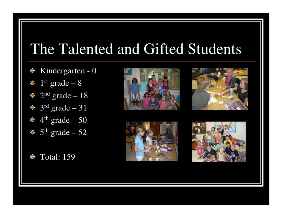 ... Exercise, Digital Scrapbooking; 6. The Talented and Gifted Students Kindergarten ...