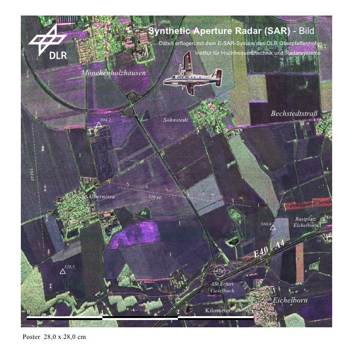 Synthetic Aperture Radar (SAR) - Bild                                             Daten erflogen mit dem E-SAR-System des ...