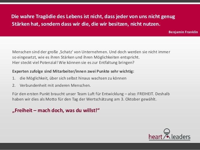 """""""Mach doch, was du willst!"""" - 3. Oktober 2014 - Tag der Wertschätzung Slide 2"""
