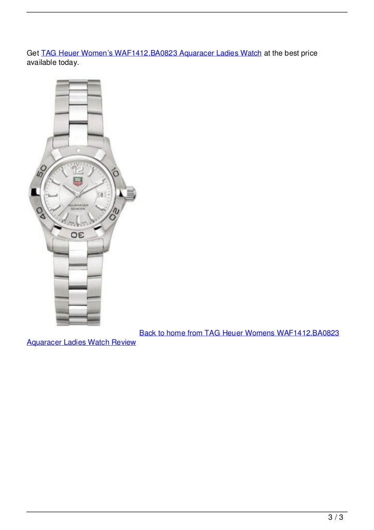 TAG Heuer Womens WAF1412.BA0823 Aquaracer Ladies Watch Review