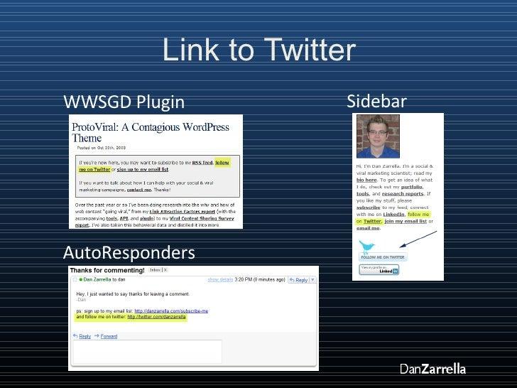 Link to Twitter WWSGD Plugin AutoResponders Sidebar