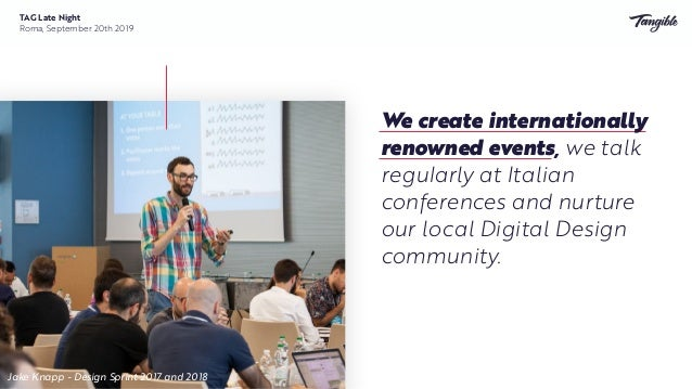 4 national events organized or hosted 5 international events organized 10+ Italian events sponsored 300+ attendees 25+ ta...