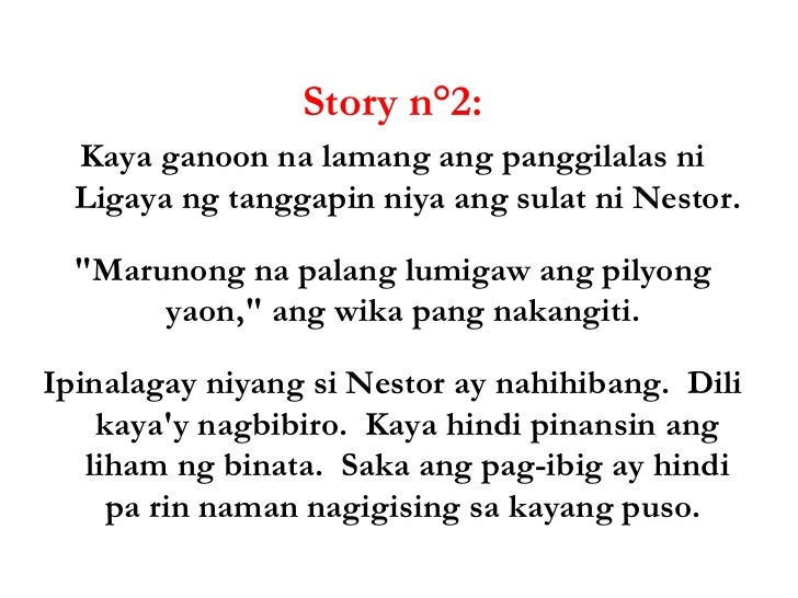 Short stories with moral lesson tagalog