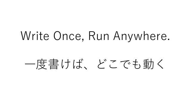 Write Once, Run Anywhere. 1995~