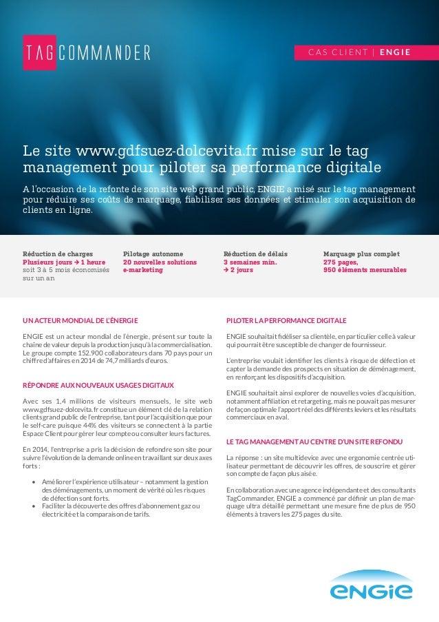 UN ACTEUR MONDIAL DE L'ÉNERGIE ENGIE est un acteur mondial de l'énergie, présent sur toute la chaîne de valeur depuis la p...