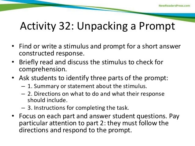 ged essay prompts