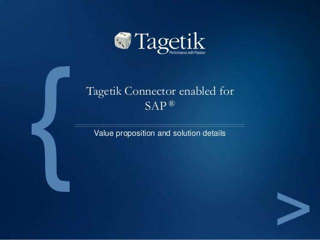 Tagetik Connector enabled for SAP ® Value proposition and solution details