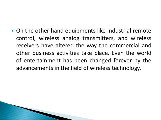 Tagg inferno -  wireless technology and modern life Slide 3