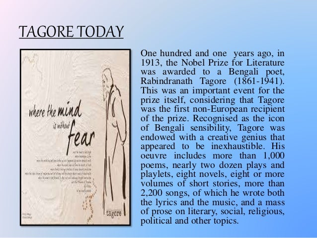 essay on rabindranath tagore in english for children Works cited tagore rabindranath children learn to share their new topic short essay on rabindranath tagore in english new topic.