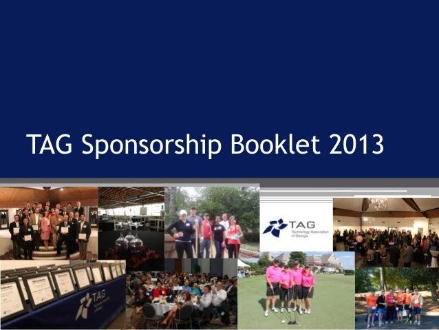 TAG Sponsorship Booklet 2013