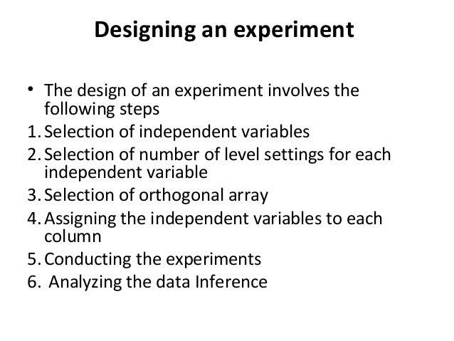Taguchi design of experiments nov 24 2013