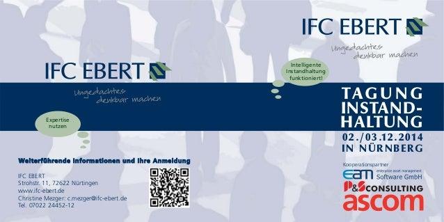 Weiterführende Informationen und Ihre Anmeldung  IFC EBERT  Strohstr. 11, 72622 Nürtingen  www.ifc-ebert.de  Christine Mez...
