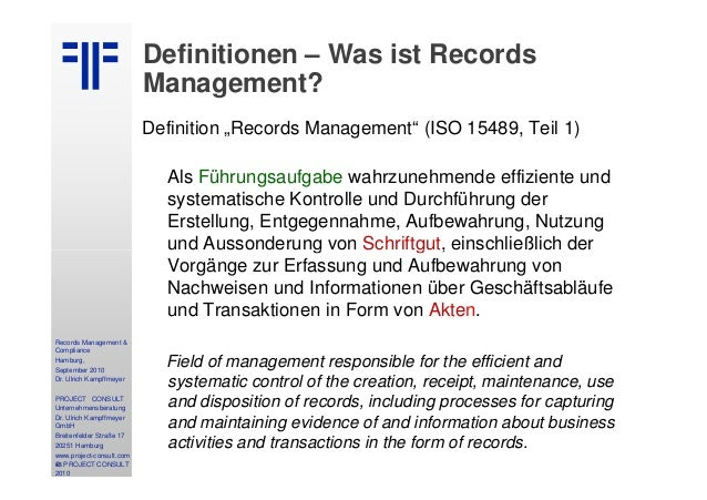 definition of records management Start studying records management in the don learn vocabulary, terms, and more with flashcards, games, and other study tools.
