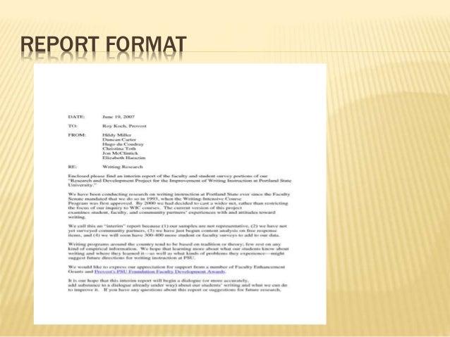 Report writing english