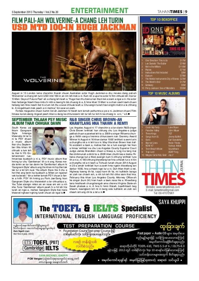 Tahan Times Journal- Vol  2- No  20- September 5, 2013