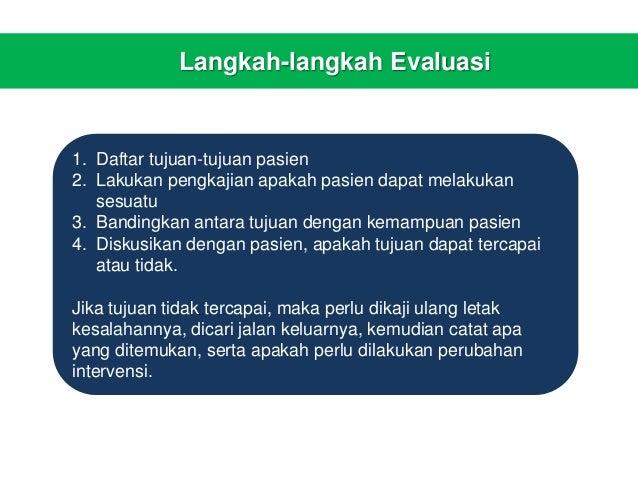 Proses Keperawatan: Tahap evaluasi