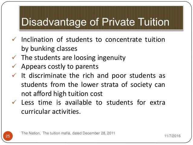essay on trends of private tuition in manipur