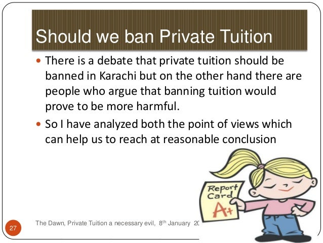 essay on private tuitions are necessary evil