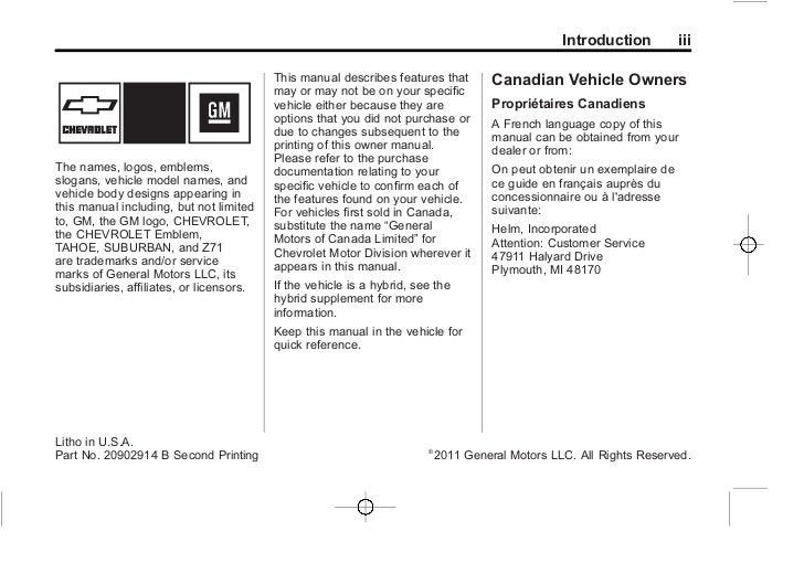 2012 chevrolet tahoe owner s manual rh slideshare net 2013 Chevrolet Suburban 2012 chevrolet suburban owners manual